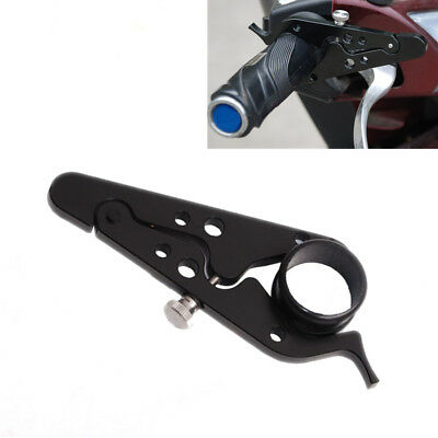 Universal Black CNC Motorcycle Cruise Control Throttle Lock Assist Retainer Grip