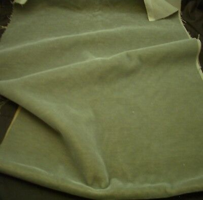 """Vintage Decorator UPHOLSTERY MOHAIR FABRIC - Antique Green - 54"""" x 19"""""""