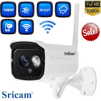 Sricam 1080P Wireless Wifi IP Camera Home Outdoor CCTV Security 4xZoom SD Slot