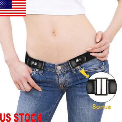 Buckle-Free Elastic Invisible Belt Women Men Waistband For Jeans No Bulge Hassle