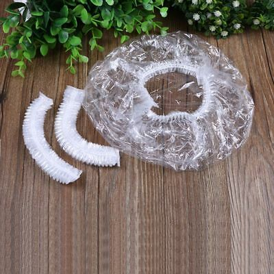 Disposable  Elastic Cap Clear Spa Hair Cap Salon Home Shower Bathing 100Pcs