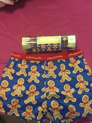 Peter Alexander Mens Gingerbread Boxer Shorts