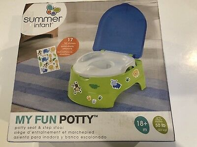 Summer Infant MY FUN POTTY 3 STAGE SYSTEM - NEUTRAL Baby Toilet Training BN