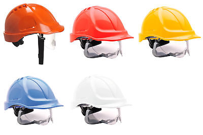 Portwest Endurance Visor Helmet Hard Hat Defender Cap Safety Work Wear PW55