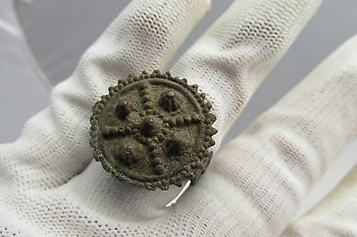Rare Ancient Late Roman/early Byzantine Ring With Cross
