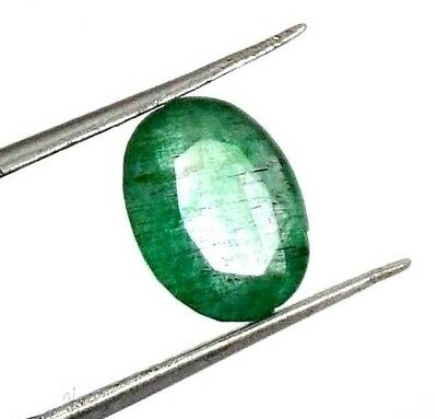 GGL Certified 2.40 Ct Exceptional Natural Oval Cut Green Emerald Gemstone