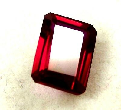 GGL Certified 9.75 Ct Natural Emerald Cut Red Mozambique Ruby Gem New Year Offer