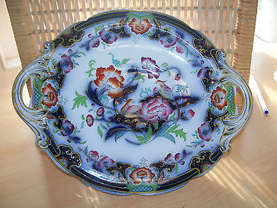 Attractive Vintage  Floral Hand Painted Dish