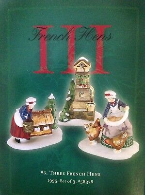 Department DEPT 56 12 TWELVE DAYS OF CHRISTMAS DICKENS VILLAGE Day 3 III #58378