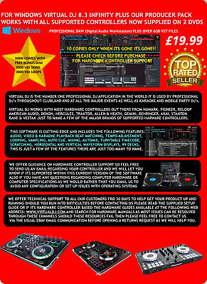 VIrtual DJ Pro Infinity 8.3 Windows Only Twin Licence Supplied On CD Only £12.99
