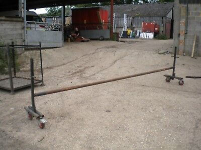 4.1m Carpet / Astroturf display stand, on wheels, collapsible.........£80+VAT