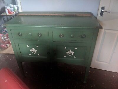 Antique Mahogany Sideboard Restoration Project approximately early 1900's