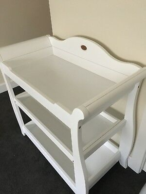 Boori Sleigh 3 Tier change Table - White