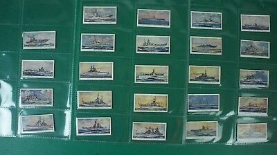 24 Kaufmannsbilder Automatenkarten Warships of the world Wiegekarten Alb-262