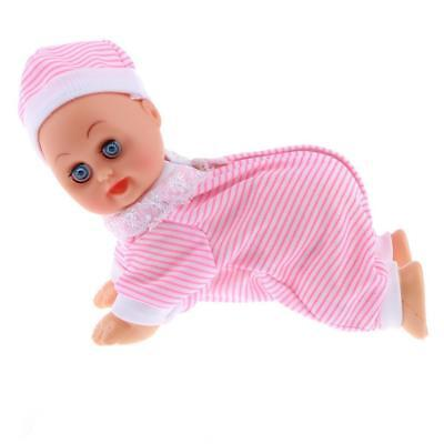 Electric Crawling Music Dancing Laughing Baby Doll Says Dad & Mama