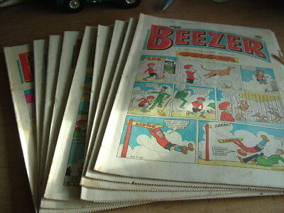 Beezer Comic 10 Consecutive Issues 1460-1469