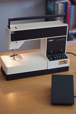 PFAFF  Tipmatic 1027 Sewing Machine, Made in Germany, Working, Rare, Modernist
