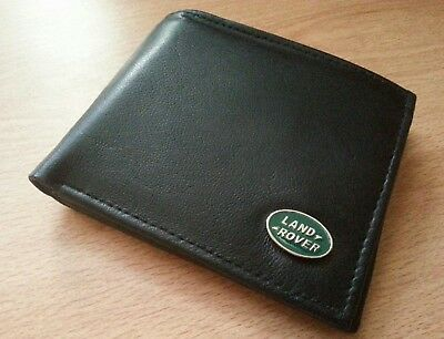 Land rover wallet genuine leather bi-fold metal badge RANGE ROVER DISCOVERY new
