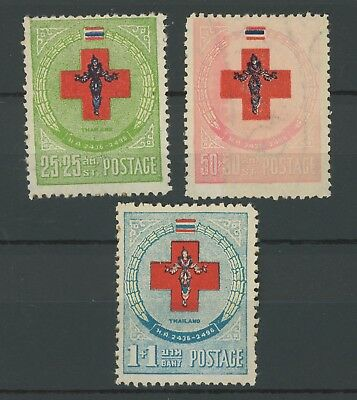 Thailand Stamps 1953 Red Cross Mnh F/vf