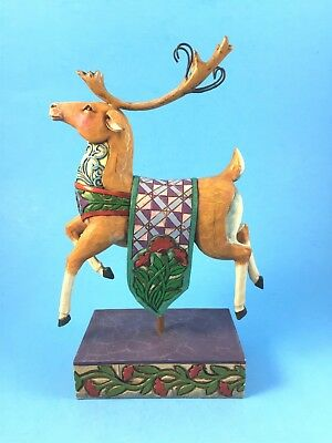 Jim Shore Heartwood Creek Christmas Magic Reindeer 4005322 with Box