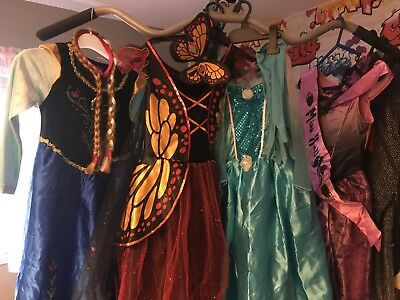 Bundle of girls fancy dresses and knight costumes , 8-9&9-10 years