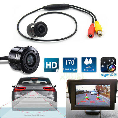 Back Up Camera Rear View Mirror Car Night Vision Parking System Reverse Kit B2