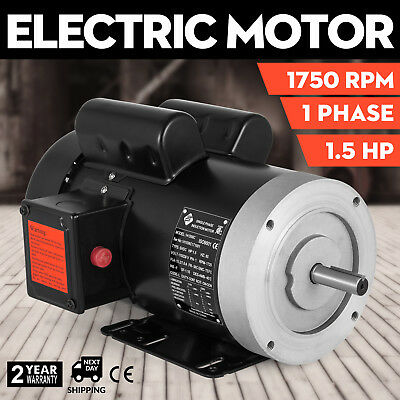 New 1.5 HP Electric Motor Fan Pump 56C frame 1750 rpm 1 phase 115/230 volt