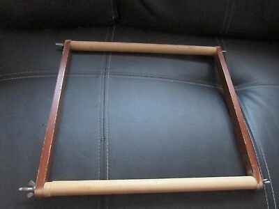 Vintage Wooden Tapestry Craft Work Frame 14 Inches By 16 Inches