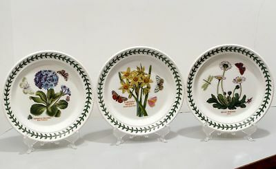 Three 3 Bread & Butter Plates Portmeirion The Botanic Garden England Daisy 7.25""