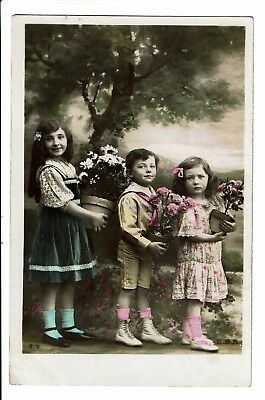 CPA -Carte postale-France-  Photo de trois enfants-1911- S3974