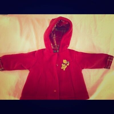 Winnie the Pooh Jacket Size 3-6 months Red