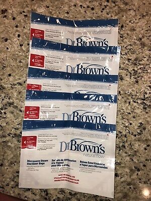 Dr. Brown's Microwave Steam Sterilizer Bags 5 Pack