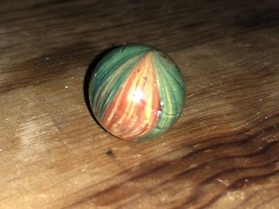 """Early Antique German Multi Color Onion Skin With Mica 13/16"""" inch Mint"""