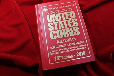 2019 Red Book, Guide Book Of United States Coins, Hard Cover 72'nd  Edition, New