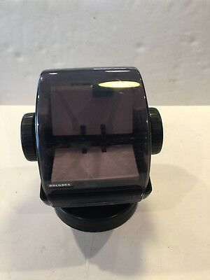 Vintage Rolodex NSW-24C Black Rotary Covered Card File with Swivel Base & Cards