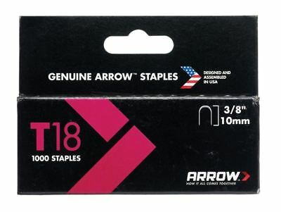 Arrow T1838S T18 Staples 10mm (3/8in) Box 1000