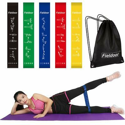 Set of 5 Resistance Bands Loop Exercise Workout CrossFit Fitness Yoga Booty Band