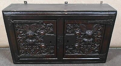 Oak Carved Mural Cupboard Circa 1600