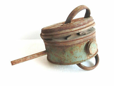 Antique Metal / Leather BELLOWS garden / vineyard shed insect powder bug sprayer
