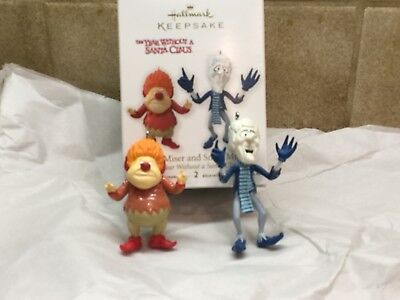 2012 Hallmark The Year Without a Santa Claus Heat and Snow Miser Ornament Set!