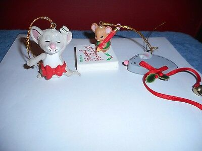 Christmas Mouse Ornaments Lot Kurt Adler Suzy Spafford Vintage Mice Tree Ornamen