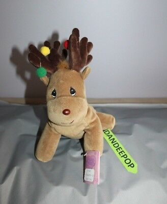 Enesco Tender Tails Reindeer Stuffed Animal 381969 With Tag