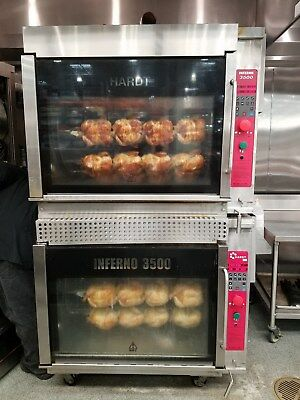 Hardt Inferno 3500 Gas Rotisserie Oven (2) Double Stack Ovens
