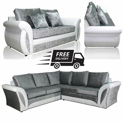 Sofa Shannon Large Corner 3 2 1 Cuddle Chair White
