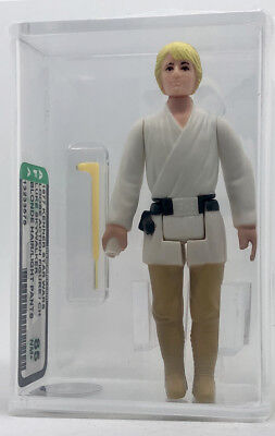 Kenner Star Wars Luke Skywalker Blonde Hair/Light Pants CH AFA 85 NEW CASE STYLE