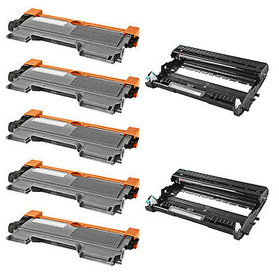 5x TN450+2x DR420 Toner Drum For Brother DCP-7060D 7065DN HL-2130 2132 2220 2230
