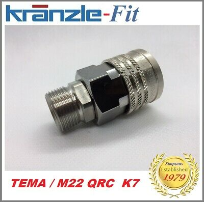 Kranzle -Fit  / TEMA Quick Release x M22 / Hose/ Gun / Lance - Female side only