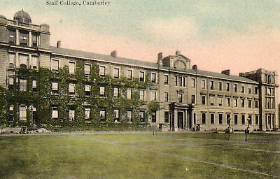 Old Box And Gillham Postcard 1908- Camberley Army Staff College - Military