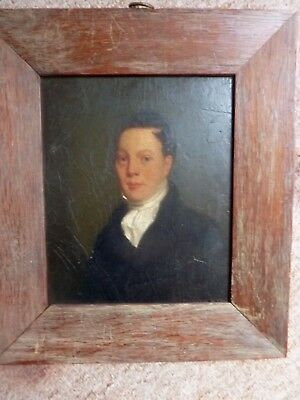 Early 19th Century English Regency Portrait Of A Young Gentleman Antique