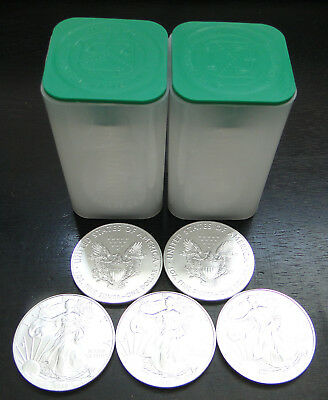 2019 Silver American Eagles  -  Lot Of 5 - From Sealed Us Mint Tube - In Stock